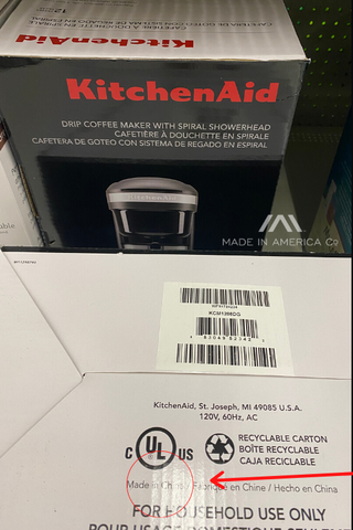 where is kitchenaid coffee maker made