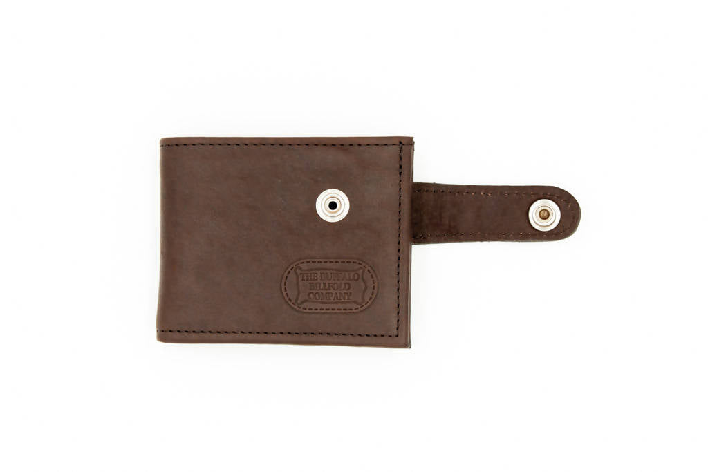 Leather Bifold Wallet – Snap Closure