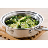 Stainless Steel 1 Quart Saucepan with Cover - 360 Cookware 360 Cookware