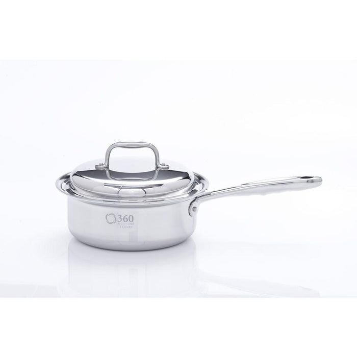 Stainless Steel 2 Quart Saucepan with Cover - 360 Cookware 360 Cookware