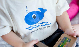 Blue Whale Todler t-shirt close up