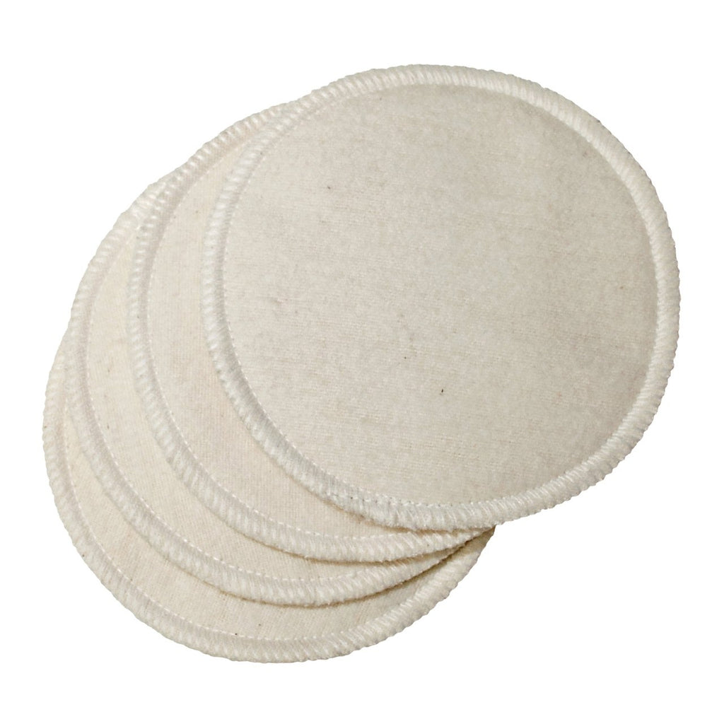 Natural Cotton Washable Nursing Pads (4 Per Package)