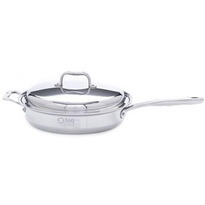 Stainless Steel 3.5 Quart Saut̩ Pan with Cover - 360 Cookware 360 Cookware