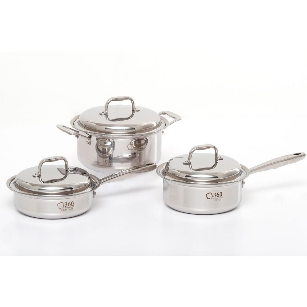 6-Piece Stainless Steel Cookware Set - 360 Cookware 360 Cookware