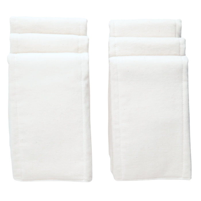 White Cotton Pre-fold Diaper - 6 Per Package