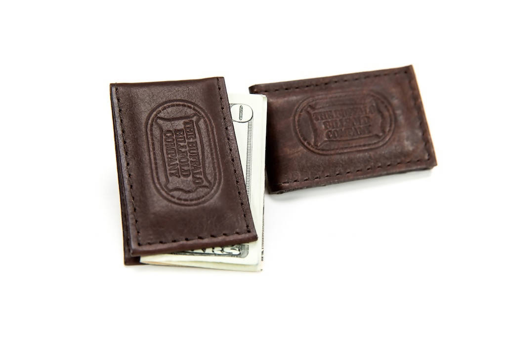 Magnetic Money Clip - Bison Leather - Brown