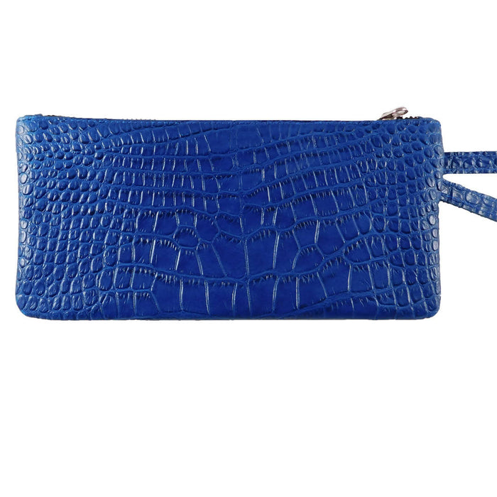 Leather Wristlet - Royal Blue
