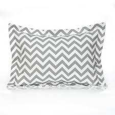 "Gray Chevron Sham 12""x16"" (Includes Insert)"