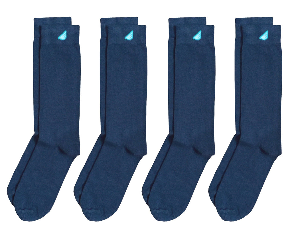 4-Pack Dark Grey - Premium Solids. American Made Dress Socks Bundle