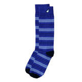 Daytripper - Purple, Black & White. American Made Dress / Casual Thin Stripe Socks