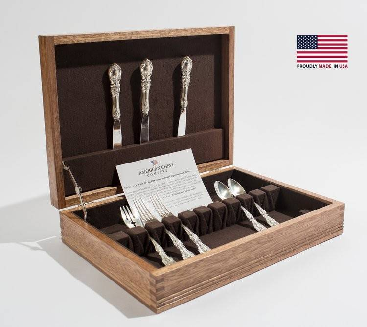 Rustic Americana Flatware Chest