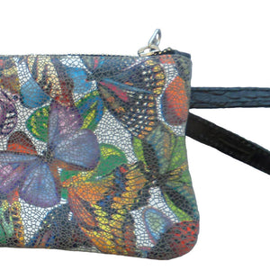 Leather Wristlet - Butterfly