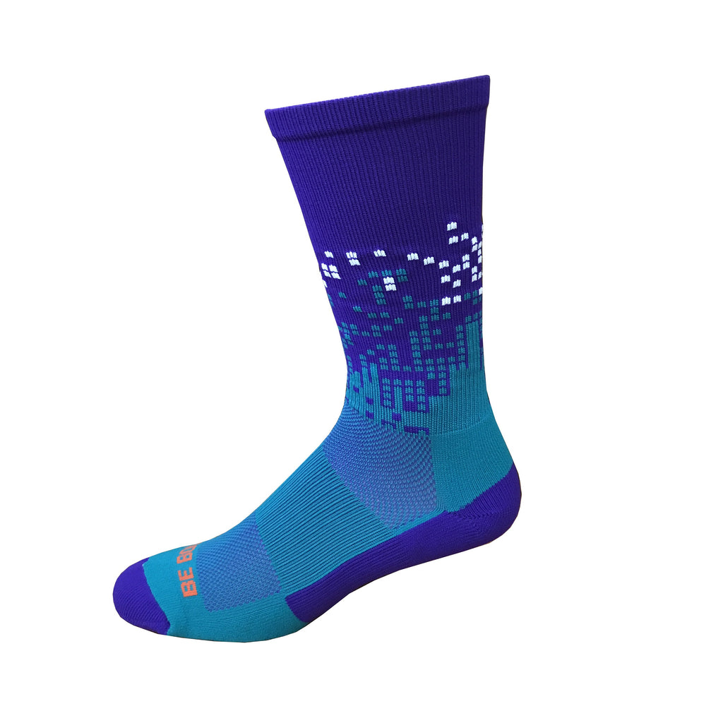charlotte Hornets purple teal american made in usa athletic socks gift stocking stuffer men women boys