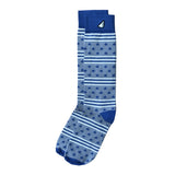 Fun Patriotic Air Force Royal Blue Grey White American Flag Stars & Stripes Made in USA Dress Casual Socks Gift Stocking Stuffer for Men & Women