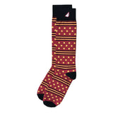 Fun Patriotic US Marines Red Black Gold American Flag Stars & Stripes Made in USA Dress Casual Socks Gift Stocking Stuffer for Men & Women