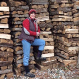 LogOX 3-in-1 forestry tool helped make this giant wood pile.