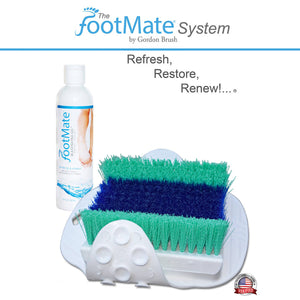 The FootMate® System Foot Massager & Scrubber — White/Teal