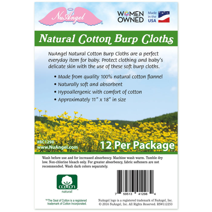 natural cotton burp cloths