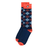 Denver Broncos Auburn Illinois Tigers Virginia Cavaliers Syracuse Chicago Bears Argyle Quality Fun Unique Crazy Dress Casual Socks Navy Orange White Made in America USA