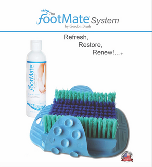 The FootMate® System Foot Massager & Scrubber — Blue/Teal
