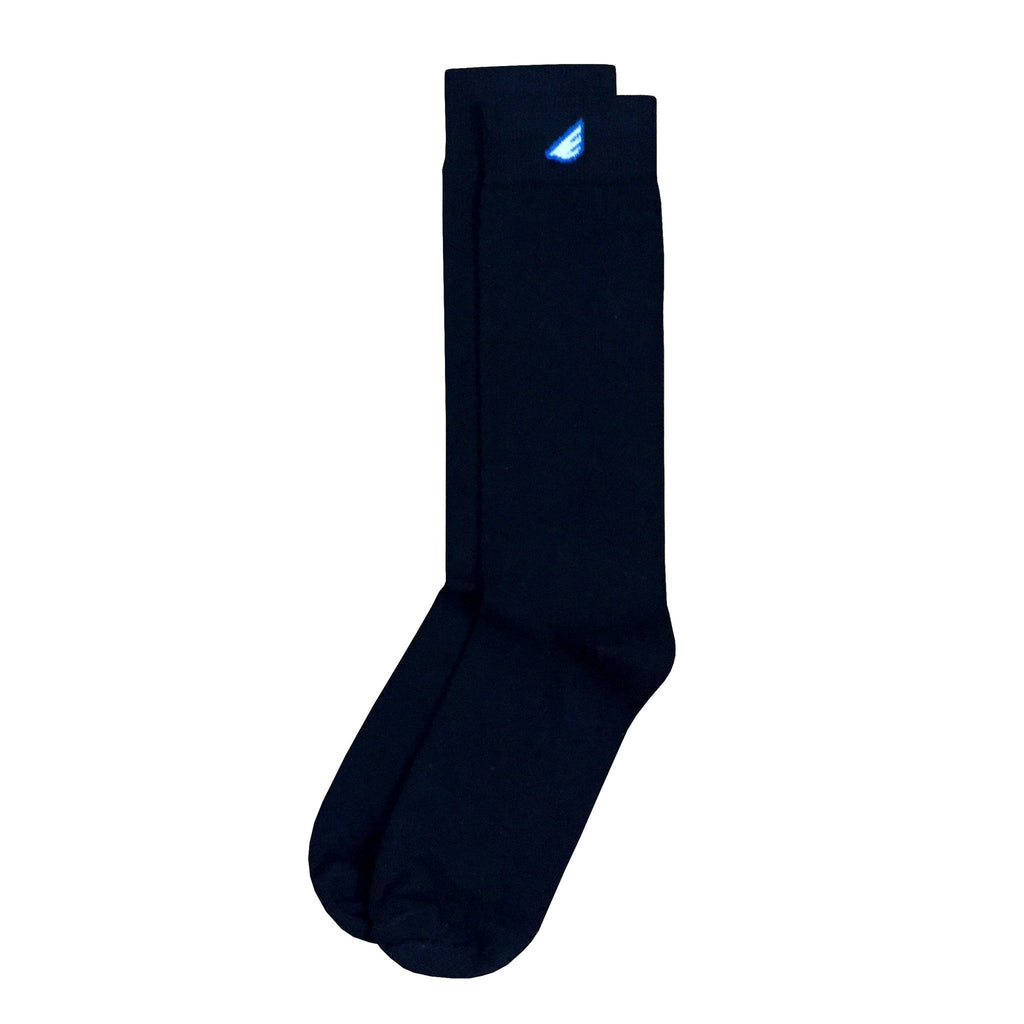 Premium Solids - Black. American Made Dress Socks