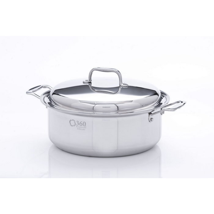 Stainless Steel 6 Quart Stockpot with Cover - 360 Cookware 360 Cookware