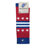 Washington Capitals Quality Fun Unique Crazy Stars & Stripes Dress Casual Socks Royal Blue Red White Made in America USA Flag