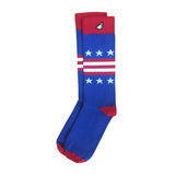 American USA Flag Socks Stars & Stripes Dress Casual Socks Royal Blue Red White