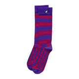Clemson Tigers Men's Fun Unique Crazy Stripe Dress Casual Socks Purple Orange Made in America USA