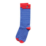 Florida Gators UVA Men's Fun Unique Crazy Stripe Dress Casual Socks Royal Blue Orange White Made in America USA
