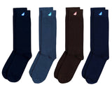 Variety 4-Pack - Premium Solids. American Made Dress Socks