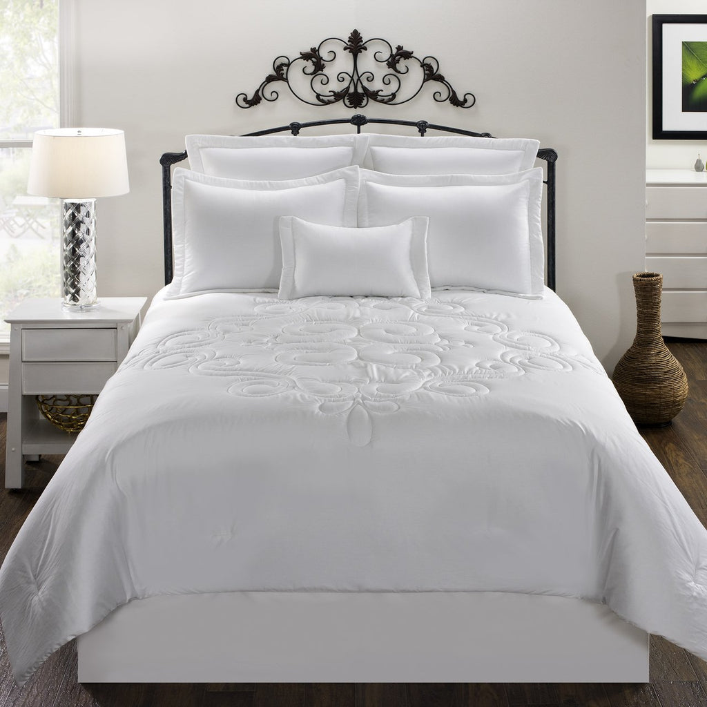 Waldorf White Bedding Set