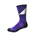 Wingman - Purple & Black. American Made Unique Athletic Socks