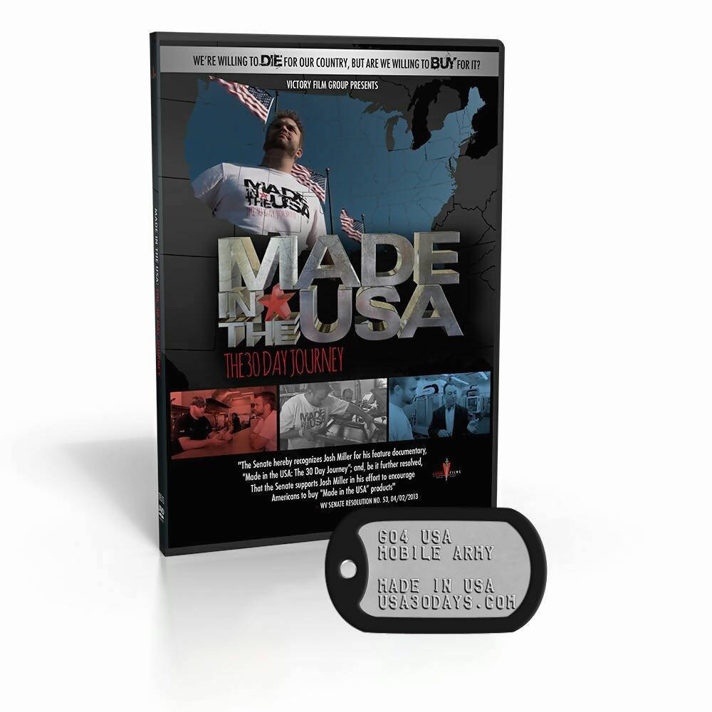 MadeInTheUSA DVD & Dog Tag