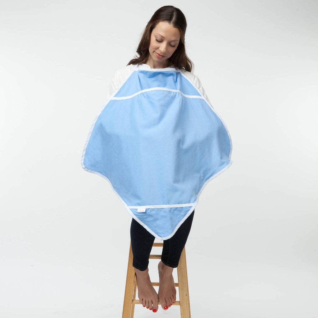 blue nursing cover