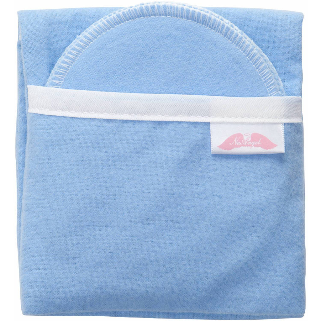 NuAngel Flip and Go™ Nursing Pad Case with Four Matching Pads, Periwinkle Blue