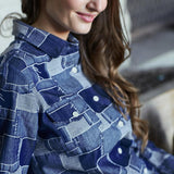 Boro Denim Shirt Woman appeal