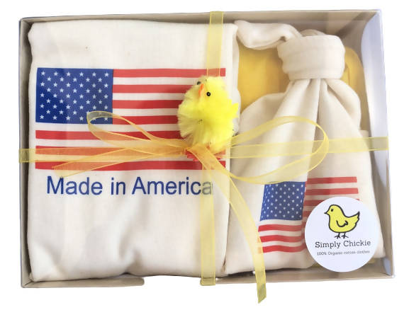 Gift set/ organic hat and one romper. Made in America