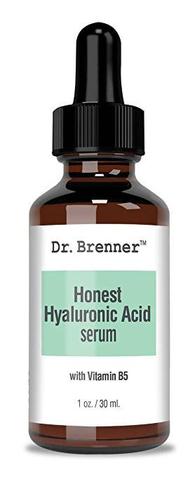 Dr. Brenner Hyaluronic Acid Serum For Skin, Made with 100% Pure Hyaluronic Acid, Plumping, Anti-Aging, Hydrating, Moisturizing HA Serum With Vitamin B5.