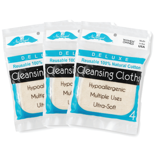 Reusable Natural Cotton Cleansing Cloths - 12 count