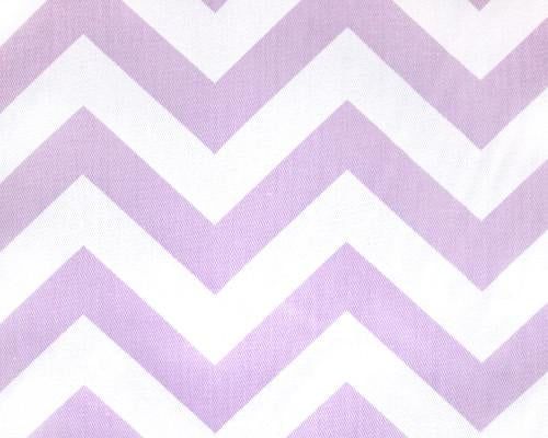 Lavender Chevron Fabric by the Yard