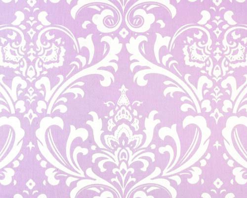 Lavender Damask Fabric by the Yard