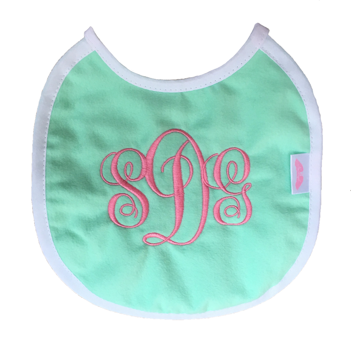NuAngel Mint Bib - Monogram Available