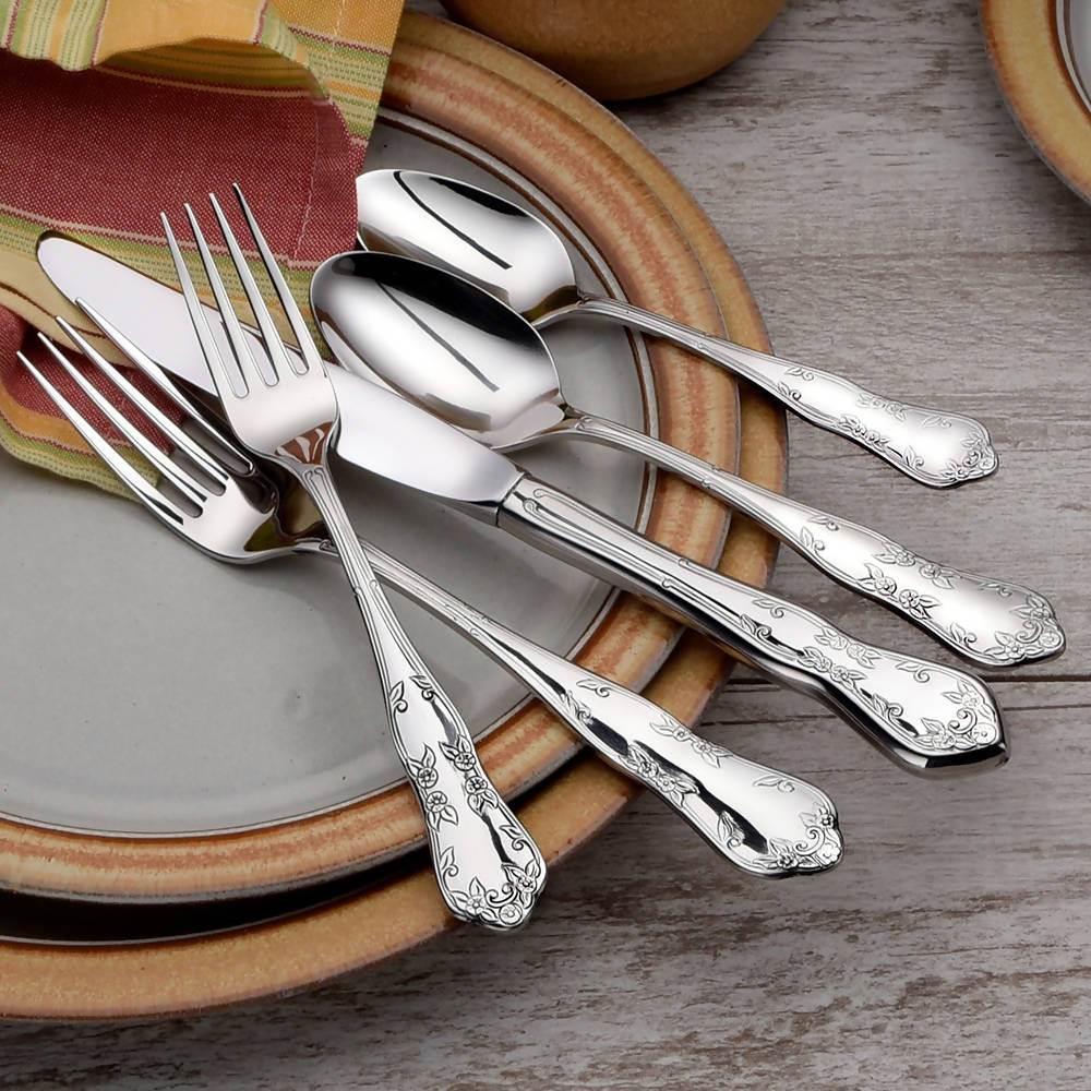 Liberty Tabletop® Flatware Martha Washington 45pc Set