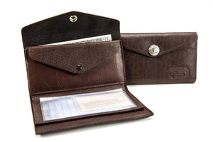 French Clutch Wallet - Bison Leather
