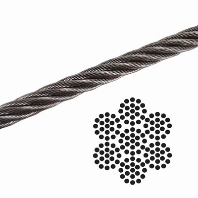"3/8"" x 7x19 Galvanized Aircraft Cable - South Korean"