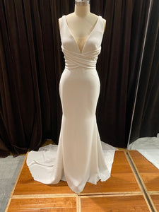 GC#32438 - Pronovias Atelier Orbit Wedding Gown (without bow) in Size 8 Ivory