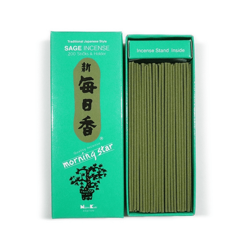 People's Herbs - Sage Incense and Holder - Morning Star - Japanese incense
