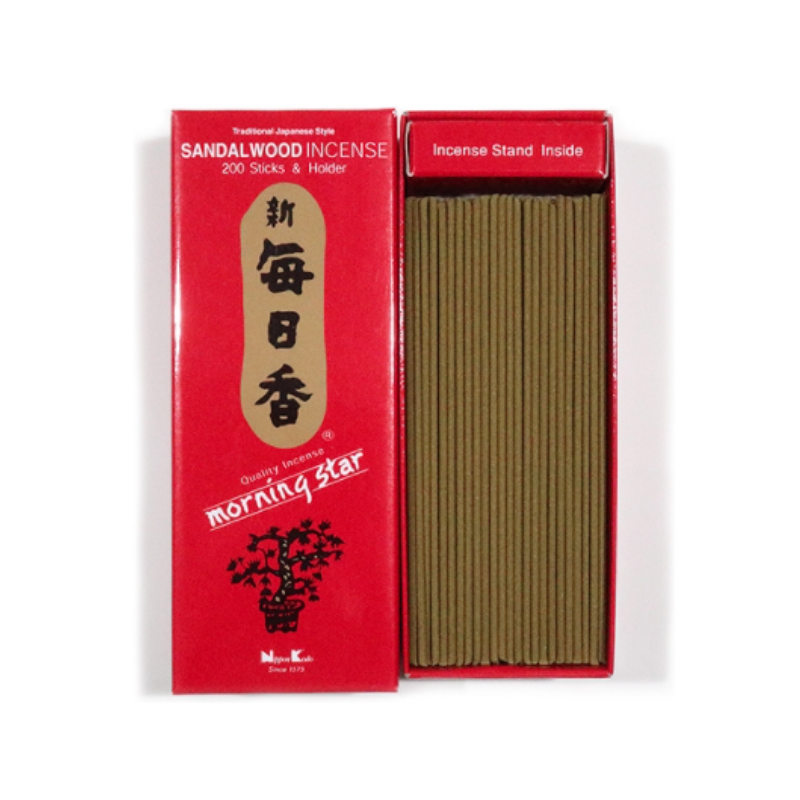 People's Herbs - Sandalwood Incense and Burner - Morning Star - Japanese incense