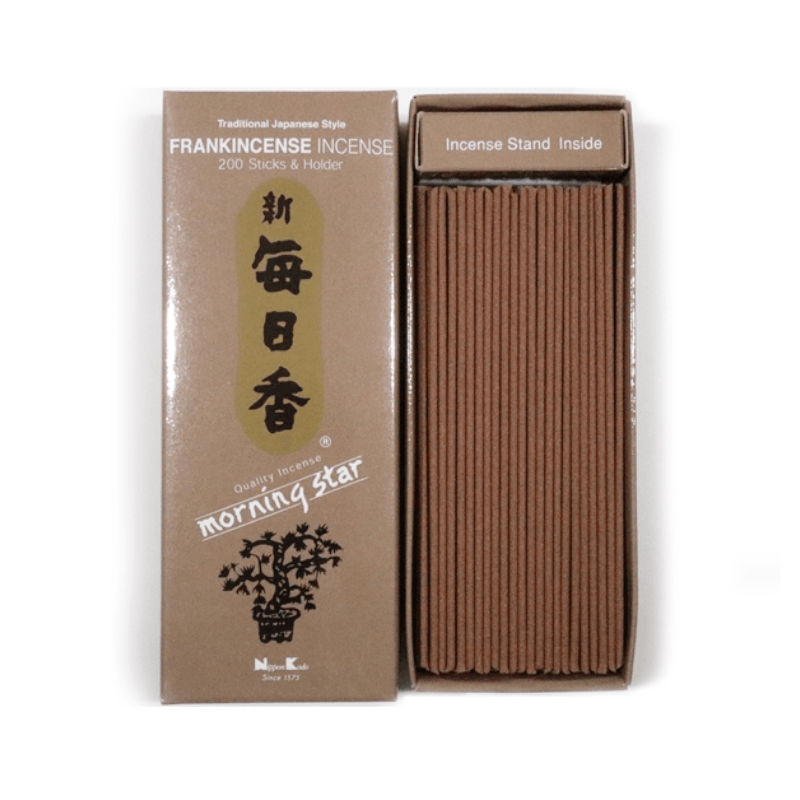 People's Herbs - Frankincense Incense and Burner - Morning Star - Japanese incense
